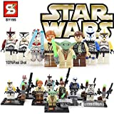 Star Wars Figures SY195 Star Wars Action Figures Toys with Star Wars Building Blocks Brick Star Wars Toys Minifigures