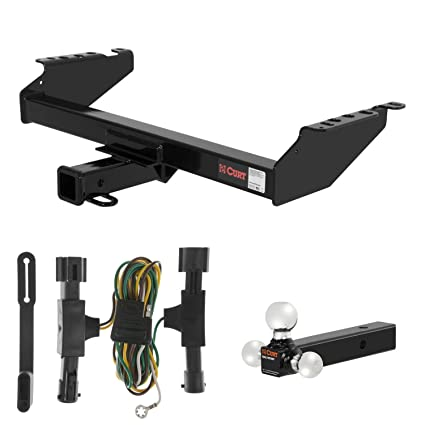 amazon com: curt trailer hitch, wiring & multi-ball ball mount for 1992-1996  ford bronco: automotive