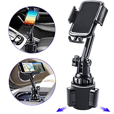 Car Holder Phone Mount,Phone Holder for Car, Cell Phone Cup Holder for Car Compatible with iPhone Xs,XS MAX,XR,X,8,8Plus,7,7Plus,6,6Plus, Galaxy S7,8,9,10,and All Smartphones(Black)