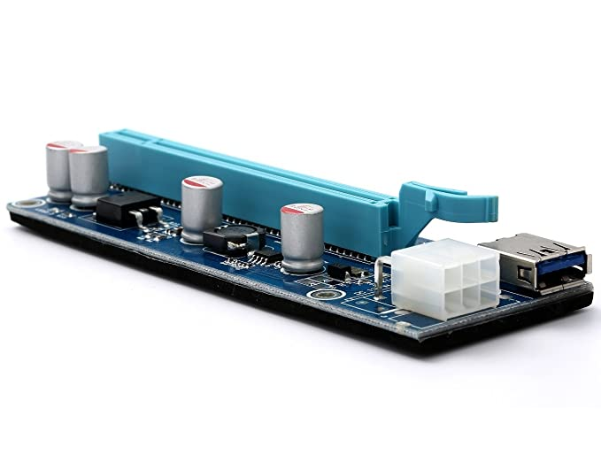 Amazon.com: totovin tarjeta gráfica PCIe PCI-E Riser Card 1 ...