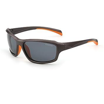 Gafas de Sol Polarizadas Deporte Hombre Mujer Béisbol Correr Ciclismo Pescar Golf(Naranja/Polarizado