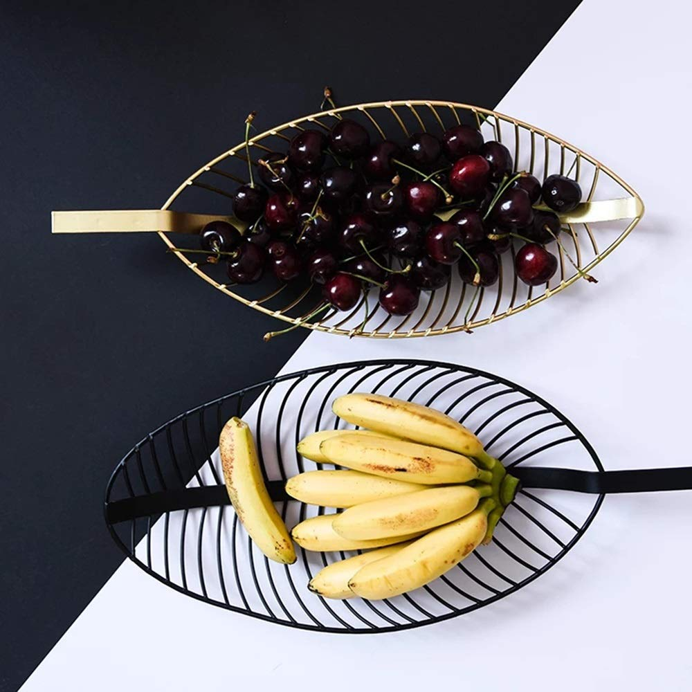 Creativo Simple Hueco Hoja De Metal Plato De Fruta ...