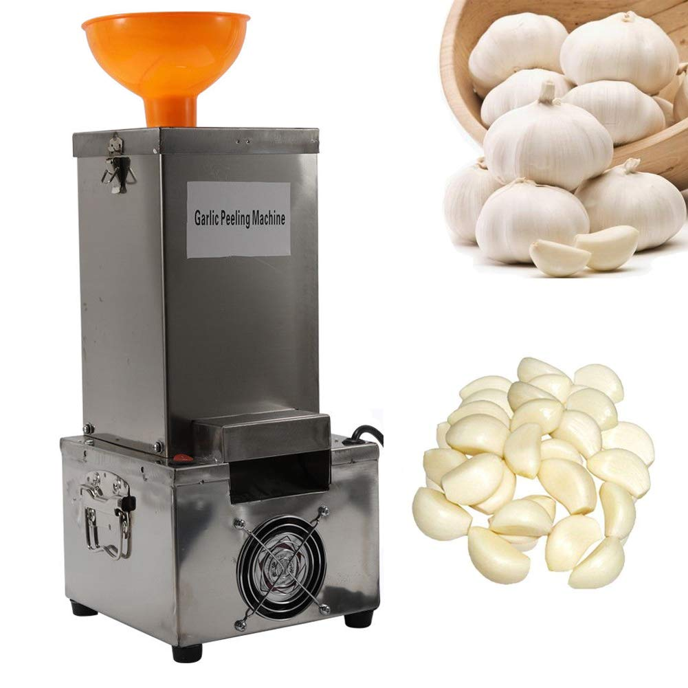 Garlic Peeler Machine Commercial Electric Stainless Steel Silicone Garlic Peeling Machine 110V 150W Garlic Peeler Machine Fast and Labor-saving Automatic Peeler with Funnel by NOPTEG