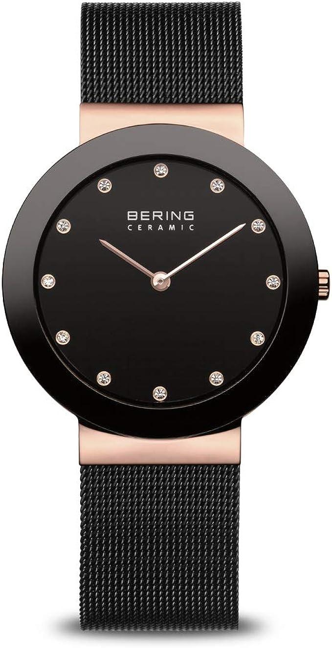 BERING Reloj Analógico para Mujer de Cuarzo con Correa en Acero Inoxidable 11435-166