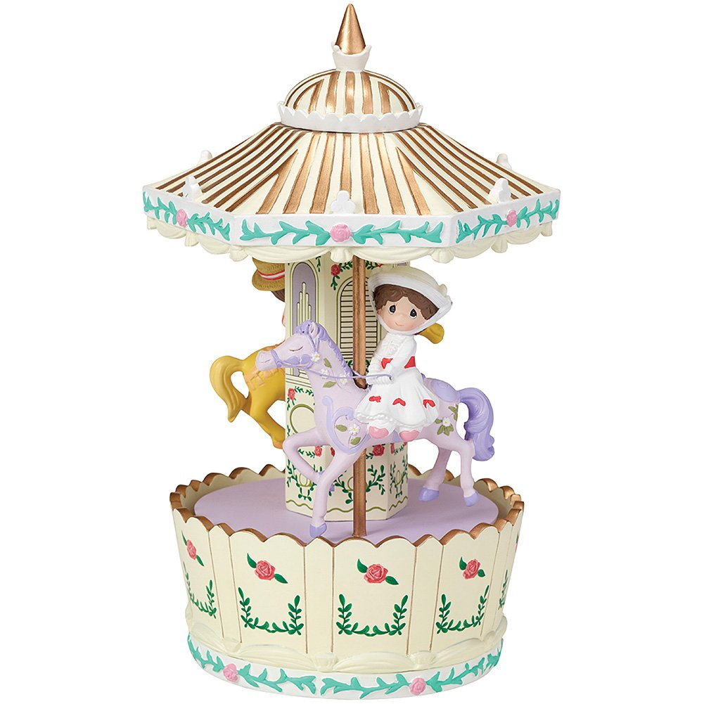 Precious Moments Disney Mary Poppins Make Every Day a Jolly Holiday Carousel Rotating Musical Box by Precious Moments