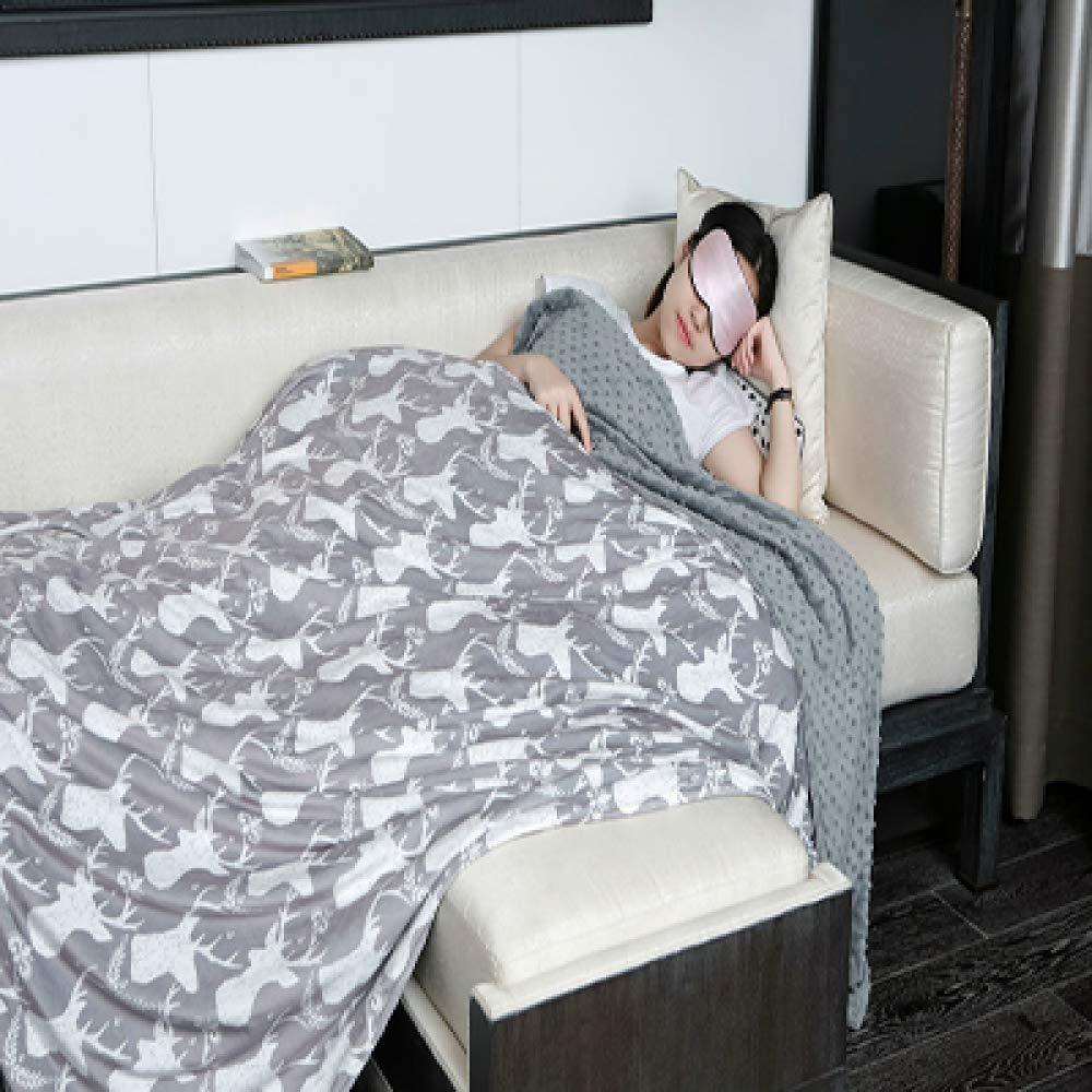 Manta Ponderada Para Adultos, Duerme Más Rápido, Para La Ansiedad Alivia El Insomnio, Da La Sensación De Abrazar,150x200cm(7.7kg): Amazon.es: Hogar