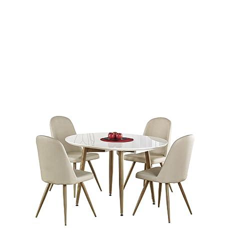 Mirjan24 avec chaises Manger 4 à chaises et 5 4 K214 Table cjq5AL34R