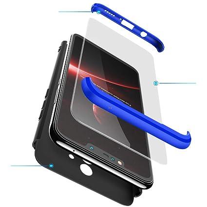 2ndSpring Huawei Mate 10 Lite Funda + Cristal Templado,Carcasa Huawei Mate 10 Lite 360 Grados Integral para Ambas Caras, Luxury 3 in 1 PC Hard Skin ...