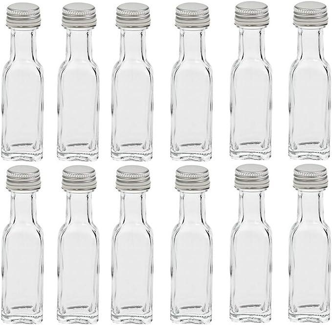 Hocz 6/10 piezas   Botellas vacías de cristal   Capacidad de 20 ml Mini   Tapa de color oro   para botellas de muestras de licor simplemente ponga su ...