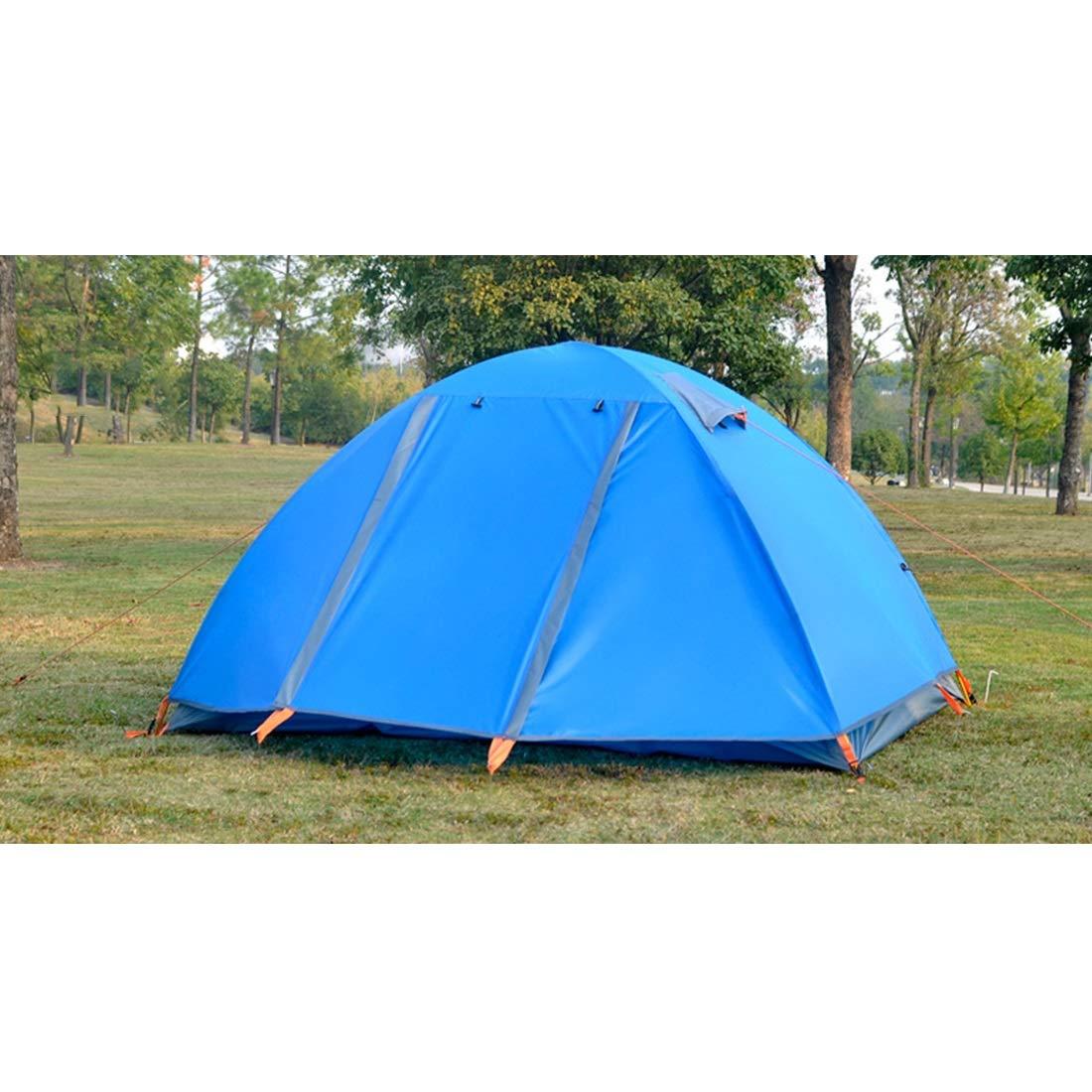 Igspfbjn 2-Personen-Zelt für wildes Abenteuer-Camping im Freien (Farbe : Blau)