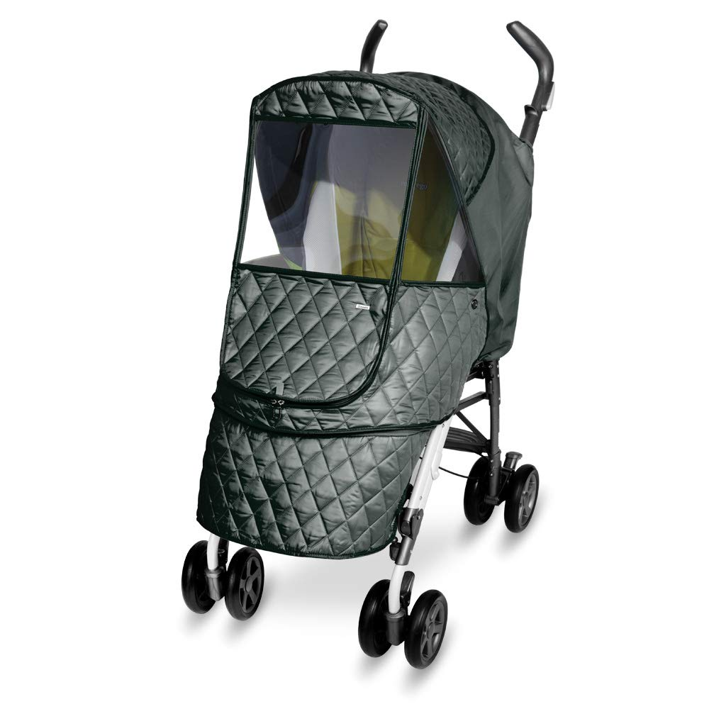 Castle Alpha Cover // Cover for Baby Stroller and Pushchair Rain Cover Navy Eye Protective Wide Windows Manito Wind Weather Shield for outdoor strolling