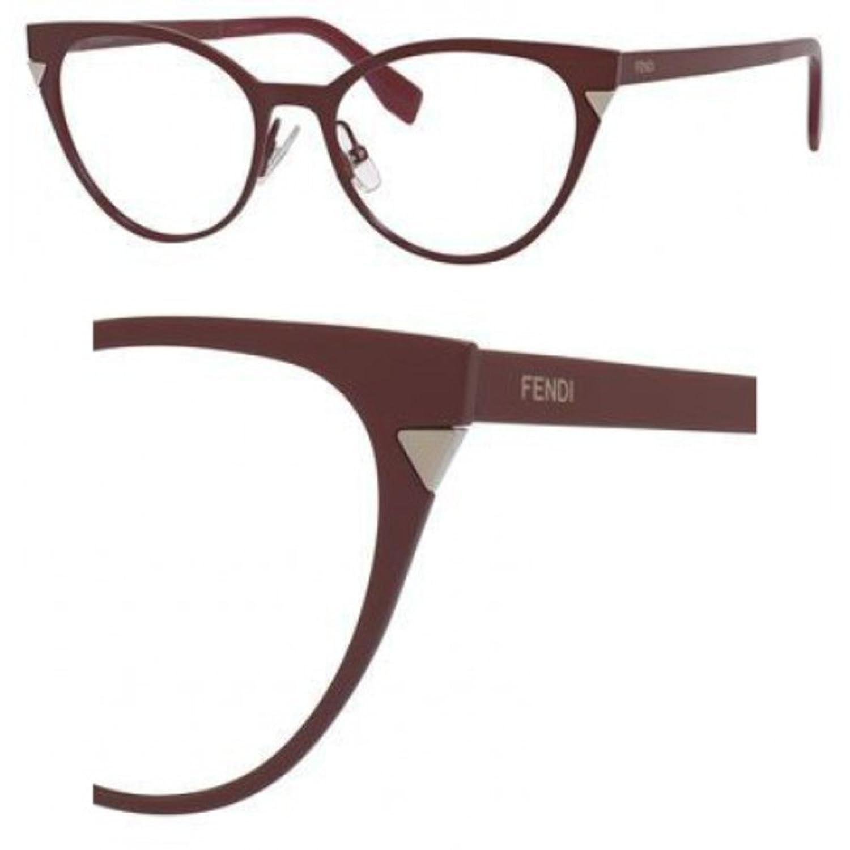 Fendi Brillen Für Frau 0126 MQF, Matte Bordeaux Metallgestell ...