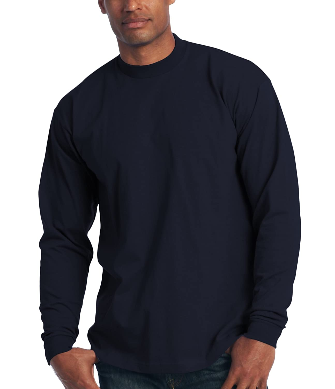 Men's proclub Heavy Weight solid crewneck long sleeve shirts