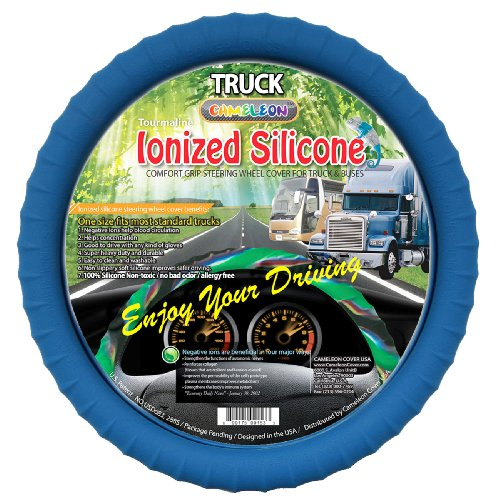 18 inch blue steering wheel cover - 1