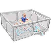 Honelevo Baby playpen, Playpens for Babies, Kids Safety Play Center Yard, Extra Large Indoor Outdoor Toddler Infant…