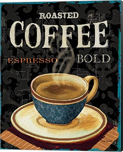 Today's Coffee IV by Lisa Audit Canvas Art Wall Picture, Museum Wrapped with Black Sides, 16 x 20 - Canvas Art Oversized Iv