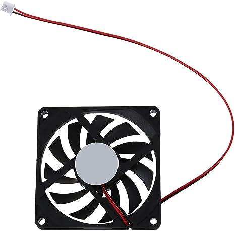 SODIAL(R)80mm Ventilador de enfriamiento de conector de 2 pines ...