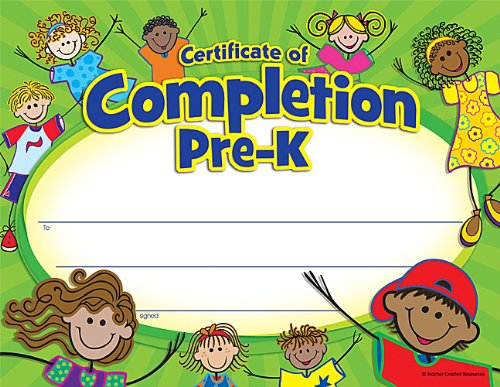 Teacher Created Resources Certificate of Completion (4588)