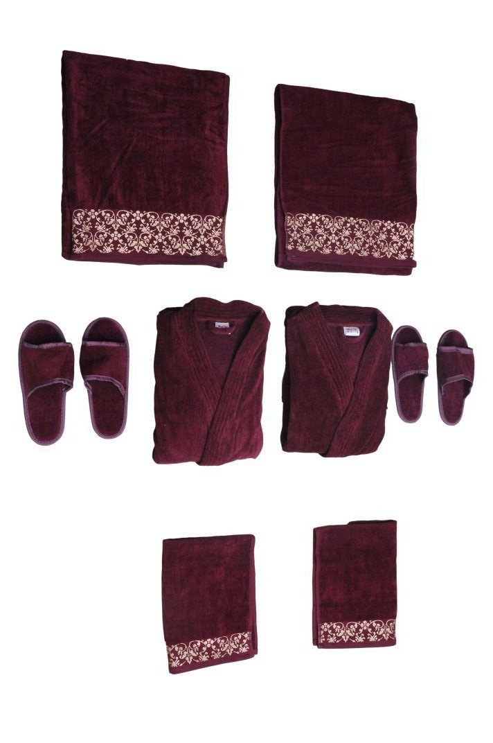 Traditional Mafia rsesbt888817 8 Piece Wedding Couple Set, Maroon by traditional mafia