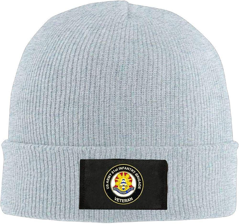 US Army 81st Infantry Brigade Unit Crest Veteran Mens Beanie Cap Skull Cap Winter Warm Knitting Hats.