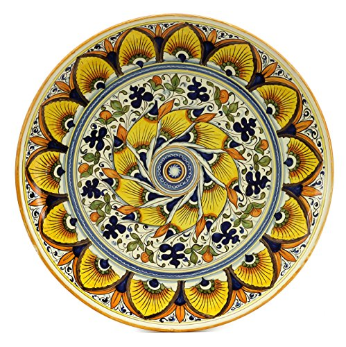 MAJOLICA TOSCANA: Wall Plate with Geometric design