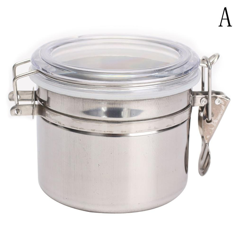 BleuMoo Stainless Steel Airtight Sealed Canister Coffee Flour Sugar Container Holder Can (S)