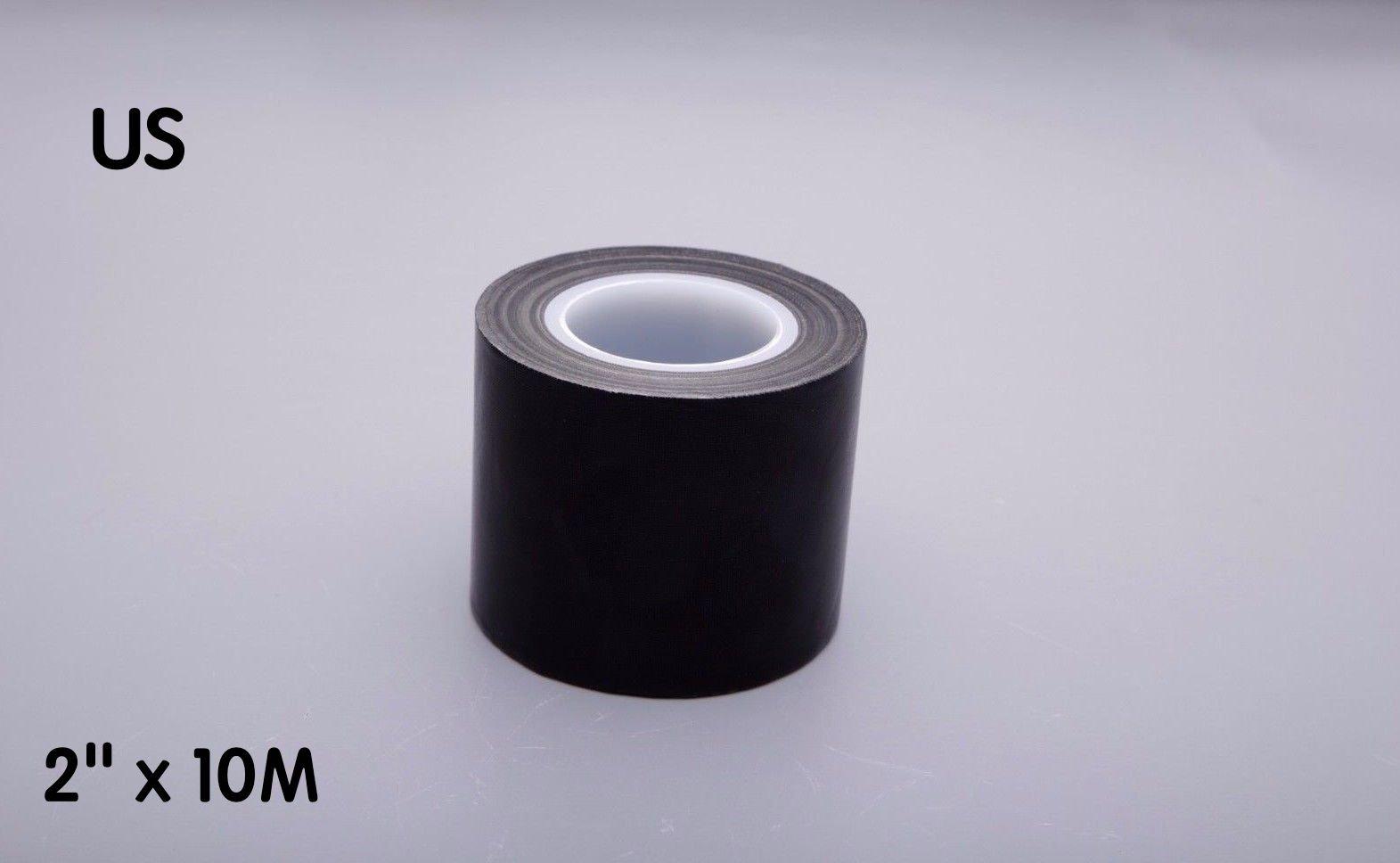 2''x10m Black PTFE Teflon Tape Nonstick Tape 500℉ High-Temp Fiberglass Adhesive Tape