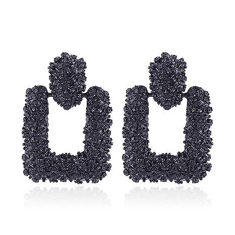 f84e724b69c3c DANMEI Pendientes de moda para mujer 2018 moda retro pendientes de metal  geométrico pendientes colgantes grandes