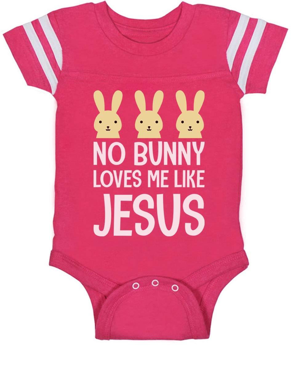 Tstars – No Bunny Loves Me Like Jesus Christian Easter Baby Jersey Bodysuit