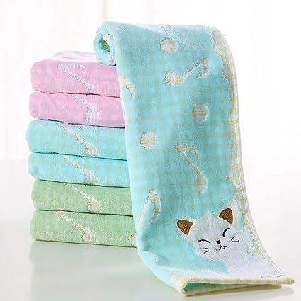 YaNanHome Toalla de algodón Toalla de Cara pequeña de hogar toallita de algodón Absorbente Suave Toalla