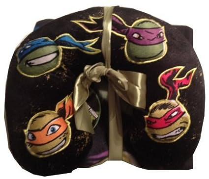 Teenage Mutant Ninja Turtles Throw Plus Travel Neck Pillow 2 Pieces Set Blanket