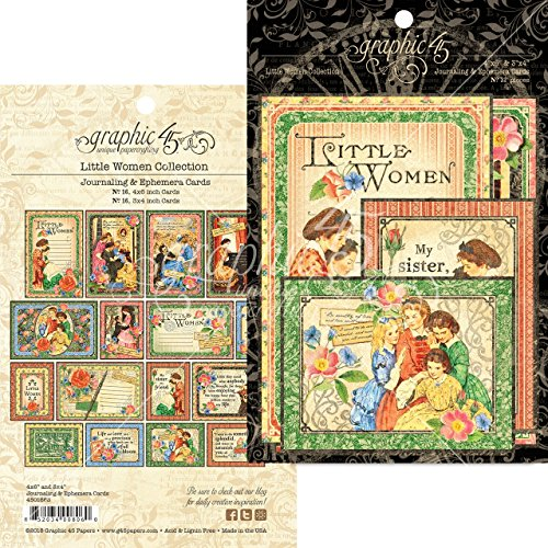 Graphic 45 4501663 Little Women Ephemera Cards ()