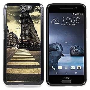 BullDog Case - FOR HTC ONE A9 - London Vintage Architecture Vignette - Dise???¡¯???¡Ào para el caso de la cubierta de pl???¡¯????stico Chicas