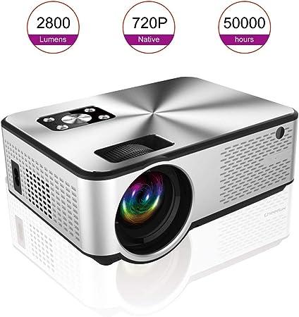 QLPP Mini proyector, 720P y 180 de Pantalla admitido, 2800 Lux ...