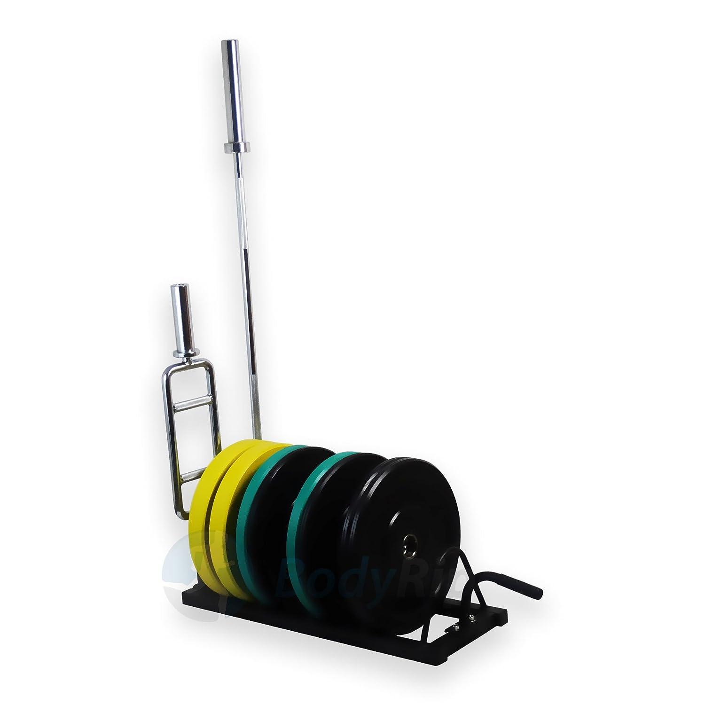 Pre-Welded Storage Home Gym Training Equipment BodyRip Horizontal Bumper Rack 2 Olympic Bar Holders