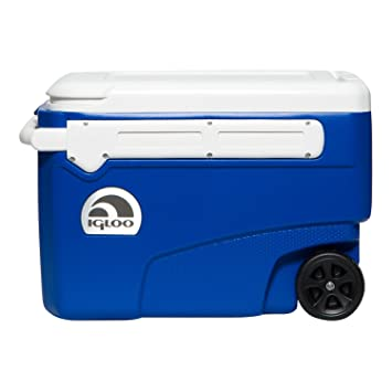 e214883832d Igloo Contour Glide 38 Coolbox On Wheels Cool Box Holds 60 Cans 45756   Amazon.co.uk  Garden   Outdoors