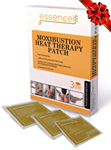 Moxibustion Natural Heating Herb Pads Heat Therapy Patches for Arthritis,Neck Shoulders, Back Pain Relief-Pack of 3