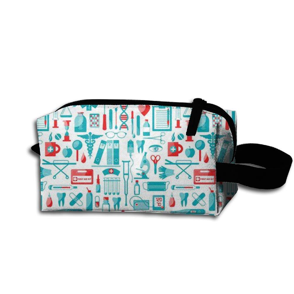 Adorable Nurse Nurses Travel Cosmetic Bag Tote Pencil Case Pouch Make Up Organizer For Women