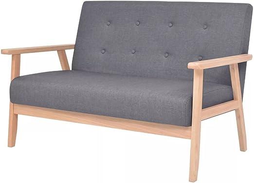 XINGLIEU Sofá Cama Gris Oscuro,Sofa de Jardin Exterior,Sofa Reclinable,Tela + Madera 113,5 x 67 x 73,5 cm: Amazon.es: Hogar