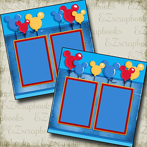 Magical Balloons - Premade Scrapbook Pages - EZ Layout 2955