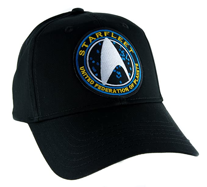 26ca6d231f Image Unavailable. Image not available for. Color  Starfleet Enterprise Star  Trek Hat Baseball ...