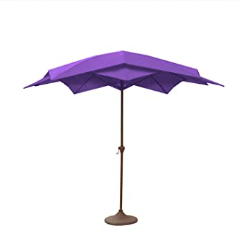 Superior 8.2u0027 Outdoor Patio Powder Coated Steel Lotus Umbrella   Purple