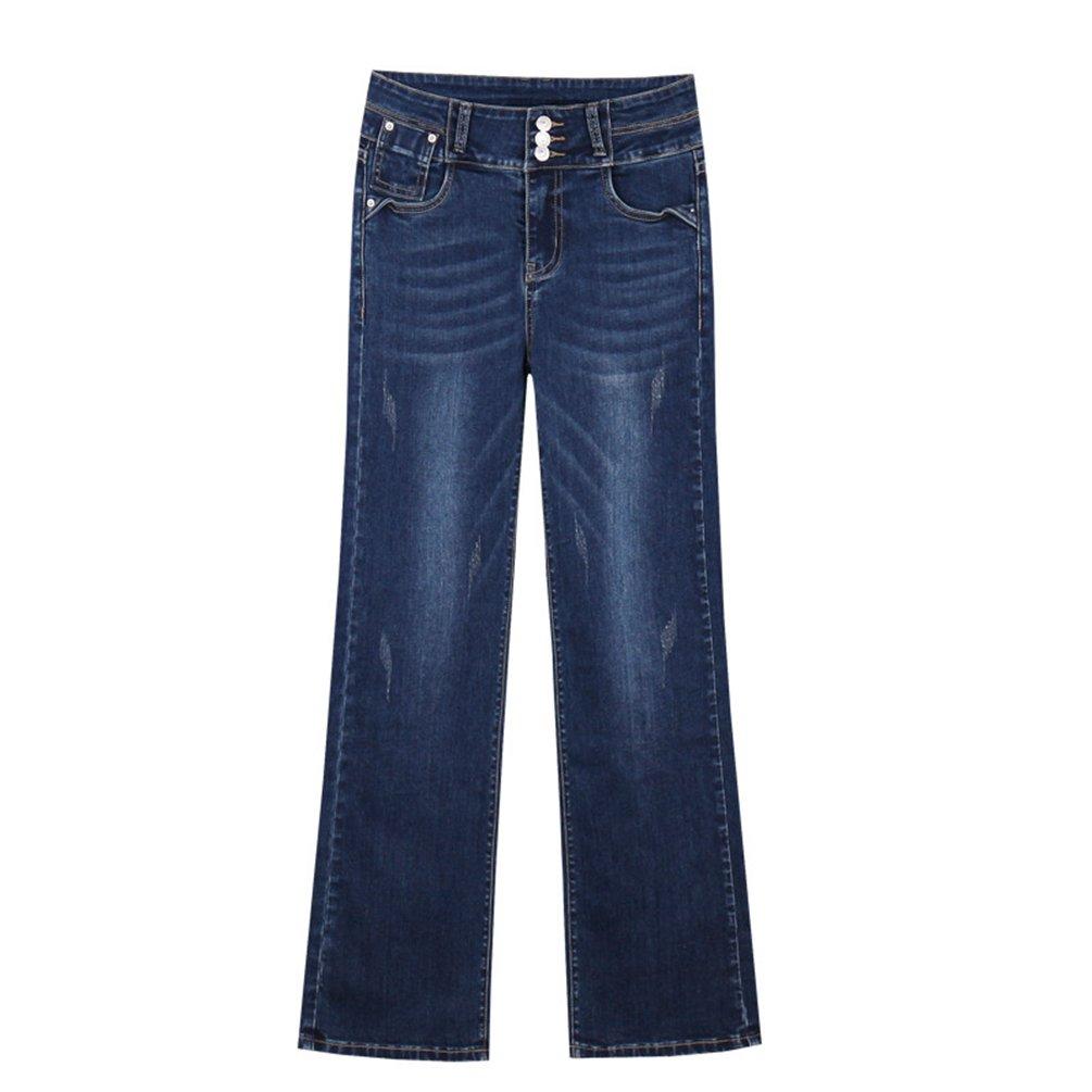 Dooxi Donna Oversize Allentata Jeans Autunno Elegante Pantaloni Bell para Signora