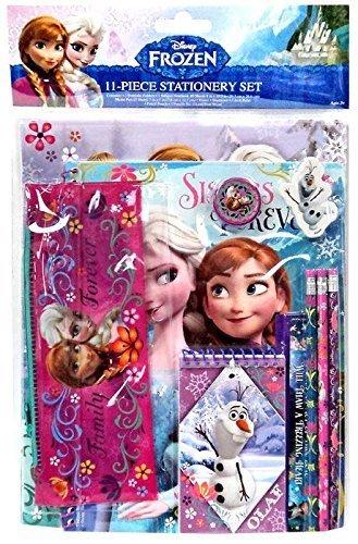 Frozen Anna Plush Backpack Plus Frozen Elsa & Anna School Supply Stationary 11pc Kit + Sticker