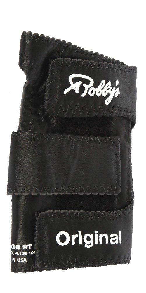 Robbys Gant de bowling droit en cuir v/éritable noir Noir