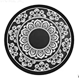 Da.Wa Chinese Style Porcelain Lotus Thicken Silicone Non-slip Cup Coasters Car Cup Holder Mat for Drinks