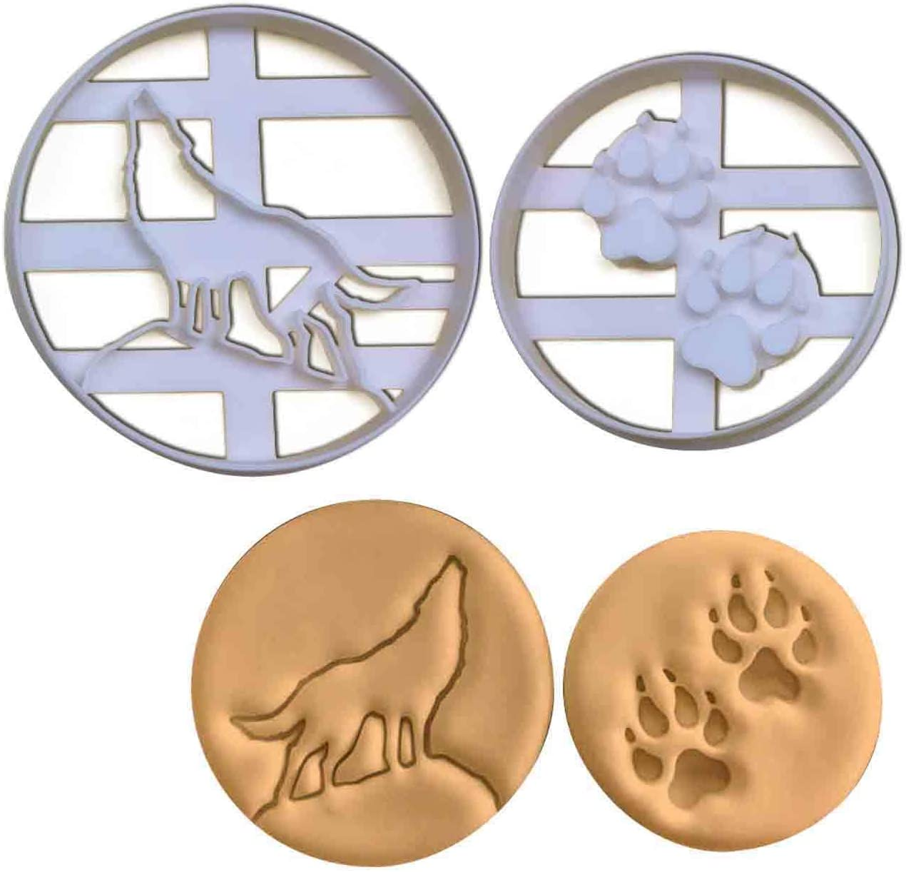 "1/"" Deep Howling Wolf Cookie Cutter 2/""//3/""//4/""//5/"" Size"