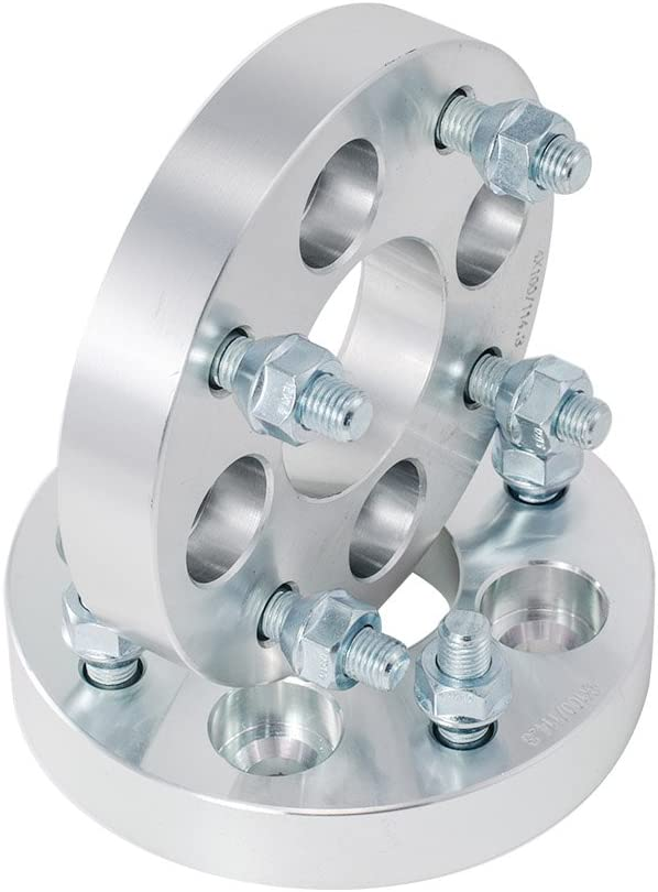 """4x4.5 2 PCs 25mm 1/"""" Inch Wheel Adapters Spacers 4x100 to 4x114.3 Studs 12x1.5"""