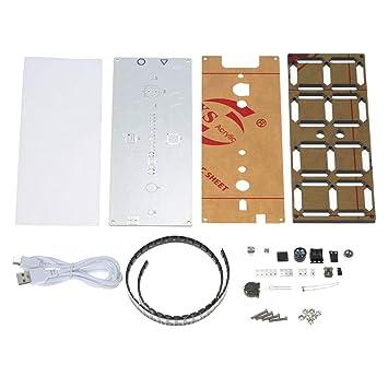 docooler Kit de reloj Digital de 4 dígitos DS3231 DIY con colores arco iris y funda transparente: Amazon.es: Bricolaje y herramientas