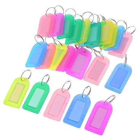 SourcingMap Nombre Plástico etiqueta Badge Llavero Holder ...